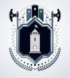 Heraldiskt tecken, beståndsdel, heraldikemblem, gradbeteckning, tecken, Arkivbilder