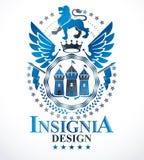 Heraldiskt tecken, beståndsdel, heraldikemblem, gradbeteckning, tecken, vektor Arkivbild