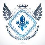 Heraldiskt tecken, beståndsdel, heraldikemblem, gradbeteckning, tecken, vektor Arkivfoton