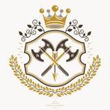 Heraldiskt tecken, beståndsdel, heraldikemblem, gradbeteckning, tecken, vektor Royaltyfri Foto