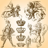 Heraldry Art Set 1 Royalty Free Stock Images