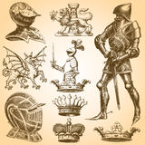 Heraldry Art Set 2 Stock Photos