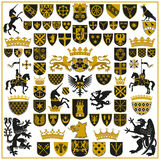 HERALDRY Crests and Symbols Stock Photography