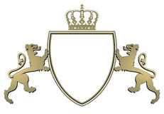 Heraldry crown and lions Royalty Free Stock Photography