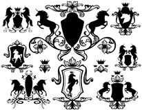Heraldry decor Stock Image