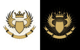 Heraldry design Royalty Free Stock Image