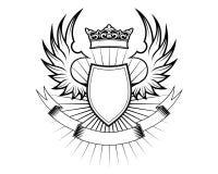 Heraldry design Stock Photo