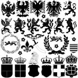 Heraldry Design Elements. Vector of heraldry design elements on white background Stock Image
