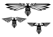 Heraldry eagle symbols. And tattoo Stock Images