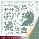 Heraldry elements. Vector set: heraldry - elements for your heraldic design projects Royalty Free Stock Images
