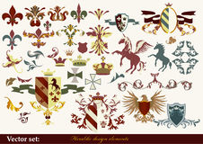 Heraldry elements. Luxury heraldic elements for design for your heraldic design projects Stock Images
