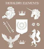 Heraldry elements collection Stock Photography