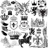 Heraldry Icons Stock Photography