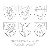 Heraldry icons with precious stones part 2 Royalty Free Stock Photos