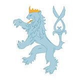 Heraldry Lion. Vector image of heraldry Lion on the white background Stock Images