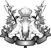 Heraldry Lions Royalty Free Stock Photography