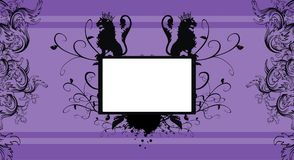 Heraldry lions copyspace frame picture frame background. Heraldry two lions copyspace frame picture background in vector format very easy to edit royalty free illustration