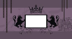 Heraldry lions copyspace frame picture frame2. Heraldry two lions copyspace frame picture background in vector format very easy to edit vector illustration