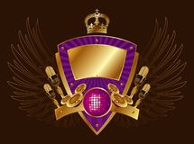 Heraldry musical shield Royalty Free Stock Image