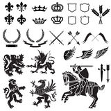 Heraldry Ornament Set Royalty Free Stock Photography