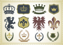 Heraldry Ornaments Royalty Free Stock Photos