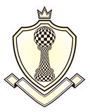 Heraldry Royal crest with chess pawn Stock Images