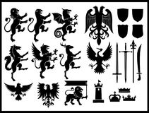 Heraldry  set. Vector collection of heraldry  set Royalty Free Stock Images