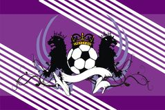 Heraldry soccer lions crest coat of arms background. Heraldic soccer lion crest coat of arms background in vector format very easy to edit Stock Images