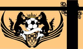 Heraldry soccer wolf crest coat of arms background. Heraldic soccer wolf crest coat of arms background in vector format very easy to edit Stock Photography