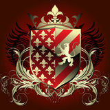 heraldyczna średniowieczna osłona Zdjęcia Stock