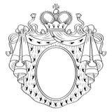 Heraldyczna rama Obrazy Royalty Free