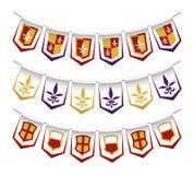 Heraldyczne chorągiewek flaga Obraz Royalty Free