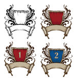 heraldyczni symbole Zdjęcia Royalty Free