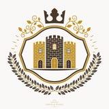 Heraldyczny żakiet ręki, rocznika emblemat ilustracja wektor