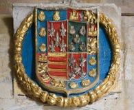 Heraldyczny żakiet ręki w katedrze Salamanca Zdjęcie Royalty Free