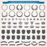 heraldyczny elementu (1) set Zdjęcia Royalty Free