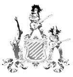 heraldyczny gitarzysty symbol Fotografia Stock