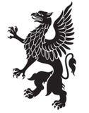 Heraldyczny gryfa czerń Ilustracja Wektor