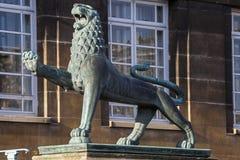 Heraldyczny lew przy Norwich urzędem miasta Zdjęcie Stock
