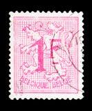 Heraldyczny lew, seria, około 1951 Zdjęcie Royalty Free