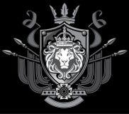 Lwa Chorągwiany grzebień royalty ilustracja