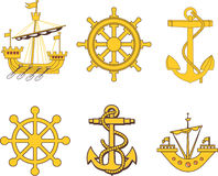 Heraldyczny żołnierza piechoty morskiej set Zdjęcia Stock