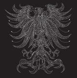 Heraldyczny orła czerń tło Zdjęcia Royalty Free