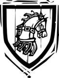 Heraldyczny osłona koń Zdjęcia Royalty Free