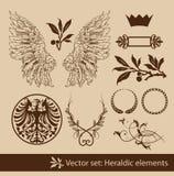 heraldyczny set ilustracja wektor