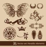 heraldyczny set ilustracji