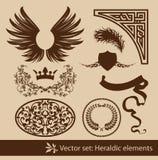 heraldyczny set royalty ilustracja
