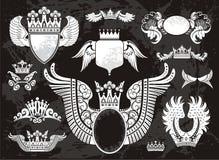 Heraldyczny set z skrzydłami ilustracji
