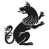 Heraldyczny zwierzę domowe pies lub wilka zwierzę nieokiełznany Ilustracja Wektor