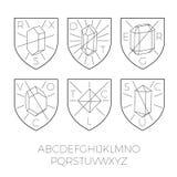 Heraldyk ikony z cennych kamieni część 1 Royalty Ilustracja